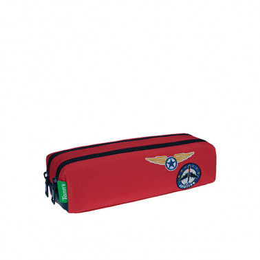 Trousse double Tom rouge