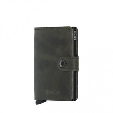 Secrid porte-cartes Miniwallet Vintage coloris Olive-Black